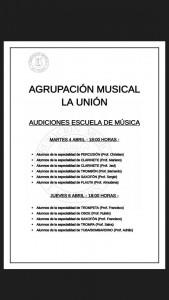 Audiciones abril 2017