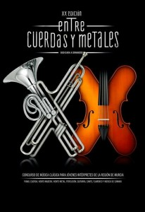 cartel de entre cuerdas y metales XX
